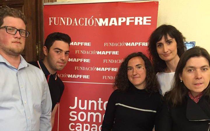 La asociación Las Encinas en la entrega de reconocimientos de la Fundación Mapfre con la Infanta Elena en Guadalajara